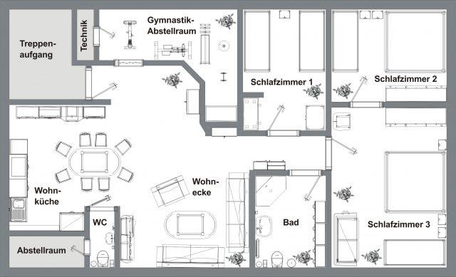 Grundriß der Wohnung